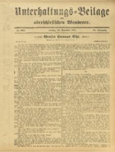 Unterhaltungs-Beilage zum Oberschlesischen Wanderer, 1911, Jg. 84, Nr. 293