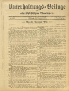 Unterhaltungs-Beilage zum Oberschlesischen Wanderer, 1911, Jg. 84, Nr. 295