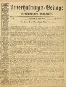 Unterhaltungs-Beilage zum Oberschlesischen Wanderer, 1913, Jg. 86, Nr. 1
