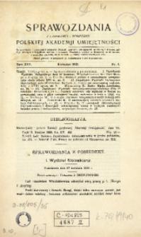 Sprawozdania z Czynności i Posiedzeń Polskiej Akademii Umiejętności, 1920, T. 25, Nr 4