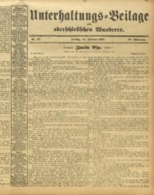 Unterhaltungs-Beilage zum Oberschlesischen Wanderer, 1913, Jg. 86, Nr. 37