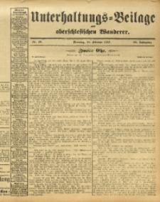 Unterhaltungs-Beilage zum Oberschlesischen Wanderer, 1913, Jg. 86, Nr. 40