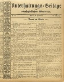 Unterhaltungs-Beilage zum Oberschlesischen Wanderer, 1913, Jg. 86, Nr. 80