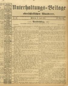 Unterhaltungs-Beilage zum Oberschlesischen Wanderer, 1913, Jg. 86, Nr. 86
