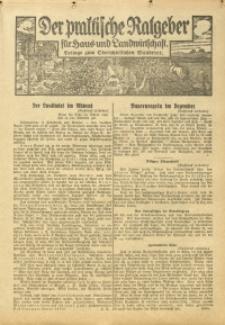 Der praktische Ratgeber für Haus- und Landwirtschaft, 1933