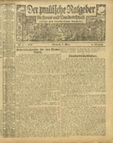 Der praktische Ratgeber für Haus- und Landwirtschaft, 1913, Jg. 5, Nr. 4