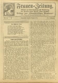 Frauen-Zeitung, 1911, Jg. 4, Nr. 14