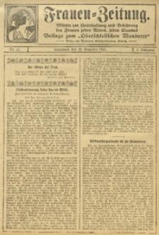 Frauen-Zeitung, 1911, Jg. 4, Nr. 22