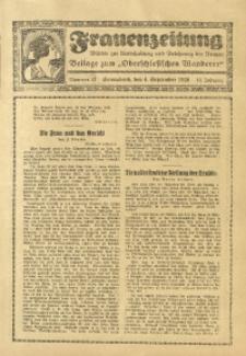 Frauen-Zeitung, 1926, Jg. 10, Nr. 14 (4. September)
