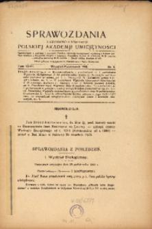 Sprawozdania z Czynności i Posiedzeń Polskiej Akademii Umiejętności, 1922, T. 27, Nr 8