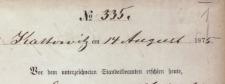 Urząd Stanu Cywilnego w Katowicach 1875, księga urodzeń Tom II