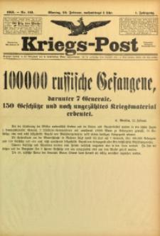Kriegs-Post, 1915, Jg. 1, nr 119