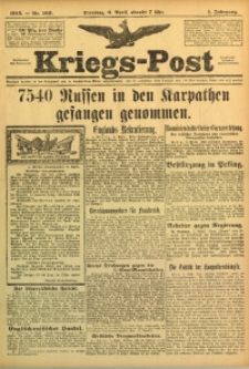Kriegs-Post, 1915, Jg. 1, nr 163