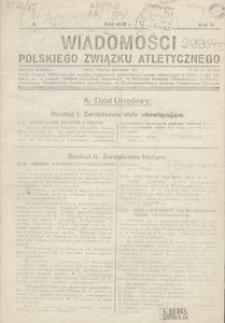 Wiadomości Polskiego Związku Atletycznego, 1936, R. 2, nr 8