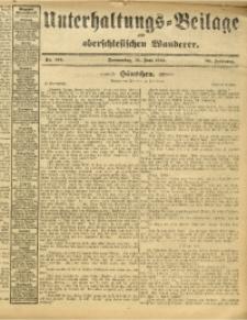 Unterhaltungs-Beilage zum Oberschlesischen Wanderer, 1913, Jg. 86, Nr. 144