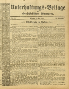 Unterhaltungs-Beilage zum Oberschlesischen Wanderer, 1913, Jg. 86, Nr. 171