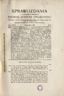 Sprawozdania z Czynności i Posiedzeń Polskiej Akademii Umiejętności, 1929, T. 34, Nr 8