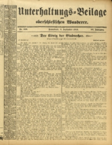 Unterhaltungs-Beilage zum Oberschlesischen Wanderer, 1913, Jg. 86, Nr. 206
