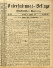 Unterhaltungs-Beilage zum Oberschlesischen Wanderer, 1913, Jg. 86, Nr. 209