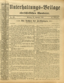 Unterhaltungs-Beilage zum Oberschlesischen Wanderer, 1913, Jg. 86, Nr. 220