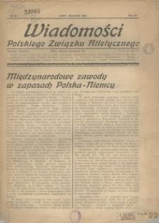Wiadomości Polskiego Związku Atletycznego, 1938, R. 4, nr 23