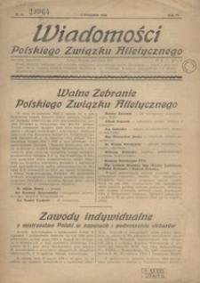 Wiadomości Polskiego Związku Atletycznego, 1938, R. 4, nr 24