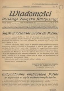 Wiadomości Polskiego Związku Atletycznego, 1938, R. 4, nr 27