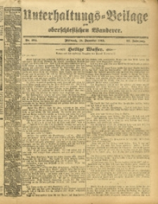 Unterhaltungs-Beilage zum Oberschlesischen Wanderer, 1913, Jg. 86, Nr. 284