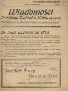 Wiadomości Polskiego Związku Atletycznego, 1938, R. 4, nr 28