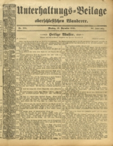 Unterhaltungs-Beilage zum Oberschlesischen Wanderer, 1913, Jg. 86, Nr. 288