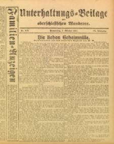 Unterhaltungs-Beilage zum Oberschlesischen Wanderer, 1915, Jg. 88, Nr. 229