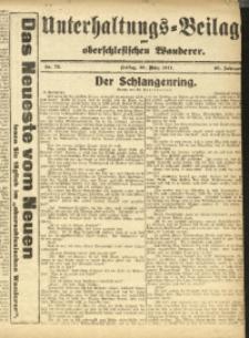 Unterhaltungs-Beilage zum Oberschlesischen Wanderer, 1917, Jg. 90, Nr. 73