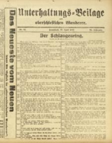 Unterhaltungs-Beilage zum Oberschlesischen Wanderer, 1917, Jg. 90, Nr. 84