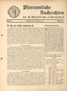Pfarramtliche Nachrichten der St. Josefskirche in Josefsdorf, 1940, Jg. 5, Nr. 49