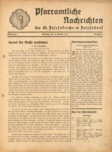 Pfarramtliche Nachrichten der St. Josefskirche in Josefsdorf, 1941, Jg. 6, Nr. 3