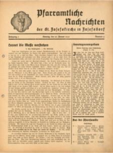 Pfarramtliche Nachrichten der St. Josefskirche in Josefsdorf, 1941, Jg. 6, Nr. 4