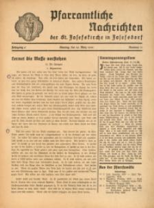 Pfarramtliche Nachrichten der St. Josefskirche in Josefsdorf, 1941, Jg. 6, Nr. 11