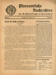 Pfarramtliche Nachrichten der St. Josefskirche in Josefsdorf, 1941, Jg. 6, Nr. 12