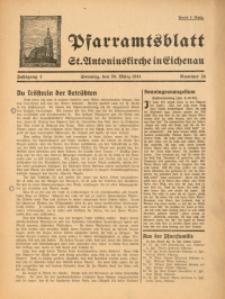 Pfarramtsblatt St. Antoniuskirche in Eichenau, 1941, Jg. 1, Nr. 24