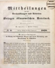 Mittheilungen aus den Verhandlungen und Arbeiten des Brieger Ökonomischen Vereines, 1838/1839, Jg. 1, No. 4