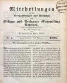 Mittheilungen aus den Verhandlungen und Arbeiten des Brieger und Steinauer Ökonomischen Vereines, 1838/1839, Jg. 1, No. 5