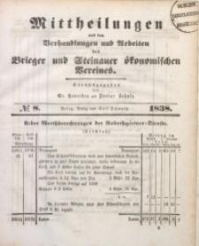 Mittheilungen aus den Verhandlungen und Arbeiten des Brieger und Steinauer Ökonomischen Vereines, 1838/1839, Jg. 1, No. 8