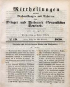 Mittheilungen aus den Verhandlungen und Arbeiten des Brieger und Steinauer Ökonomischen Vereines, 1838/1839, Jg. 1, No. 10