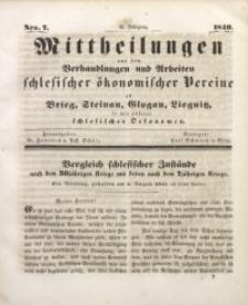 Mittheilungen aus den Verhandlungen und Arbeiten Schlesischer Okonomischer Vereine zu Brieg, Steinau, Glogau, Liegnitz, so wie anderer Schlesischer Oekonomen, 1840, Jg. 2, Nro. 7