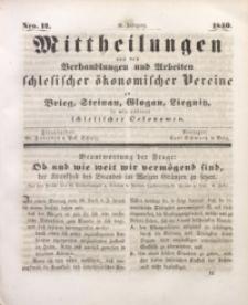 Mittheilungen aus den Verhandlungen und Arbeiten Schlesischer Okonomischer Vereine zu Brieg, Steinau, Glogau, Liegnitz, so wie anderer Schlesischer Oekonomen, 1840, Jg. 2, Nro. 12