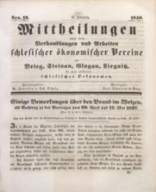 Mittheilungen aus den Verhandlungen und Arbeiten Schlesischer Okonomischer Vereine zu Brieg, Steinau, Glogau, Liegnitz, so wie anderer Schlesischer Oekonomen, 1840, Jg. 2, Nro. 13