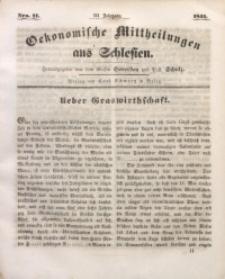 Oekonomische Mittheilungen aus Schlesien, 1841, Jg. 3, Nro. 11