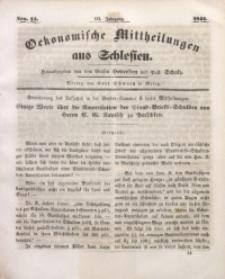 Oekonomische Mittheilungen aus Schlesien, 1841, Jg. 3, Nro. 14