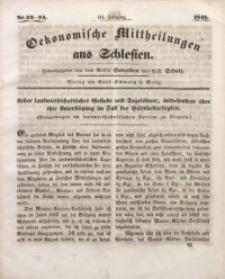 Oekonomische Mittheilungen aus Schlesien, 1841, Jg. 3, Nro. 23/24