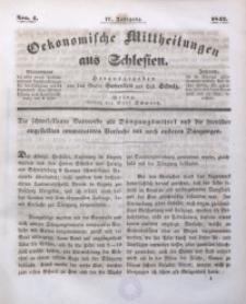 Oekonomische Mittheilungen aus Schlesien, 1842, Jg. 4, No. 4